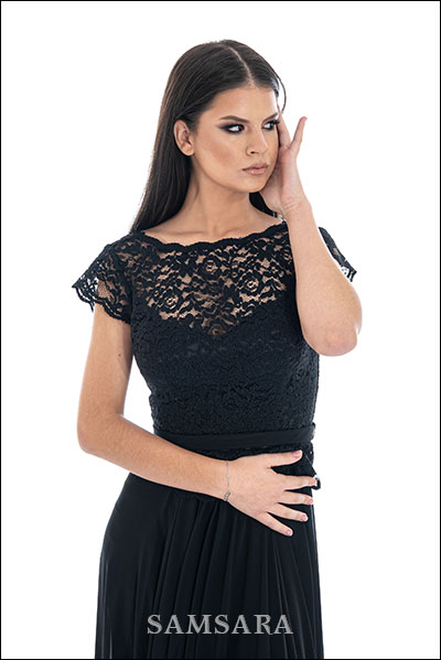 butik samsara zrenjanin zenska duga cipkana crna haljina