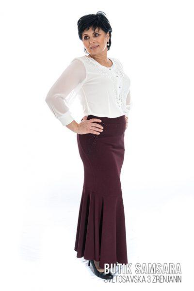 butik samsara zrenjanin zenska bordo suknja bela bluza 013