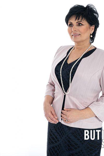 butik samsara zrenjanin zenska crna haljina rozi blezer 005