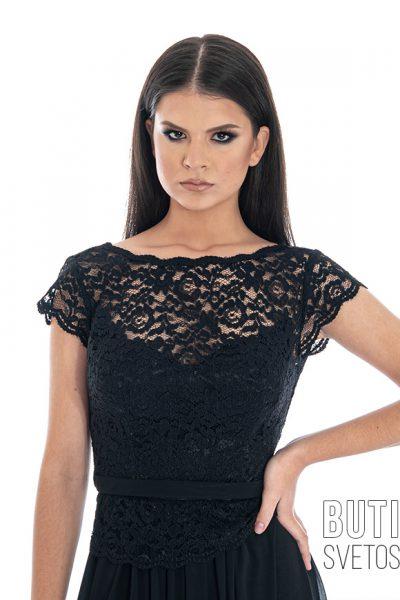 butik samsara zrenjanin zenska duga cipkana crna haljina 005