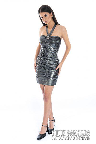butik samsara zrenjanin zenska srebrna haljina 024