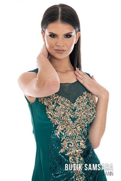 butik samsara zrenjanin zenska zelena haljina 012