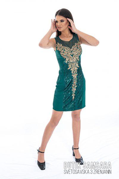 butik samsara zrenjanin zenska zelena haljina 017