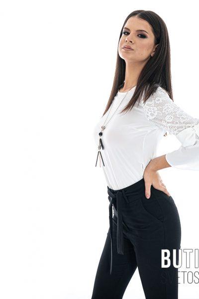 butik samsara zrenjanin zenske crne pamtalone bela bluza 009